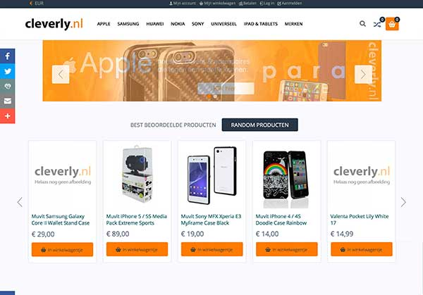 Cleverly Magento webshop